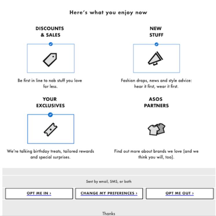 asos newsletter DIY Marketing Guide