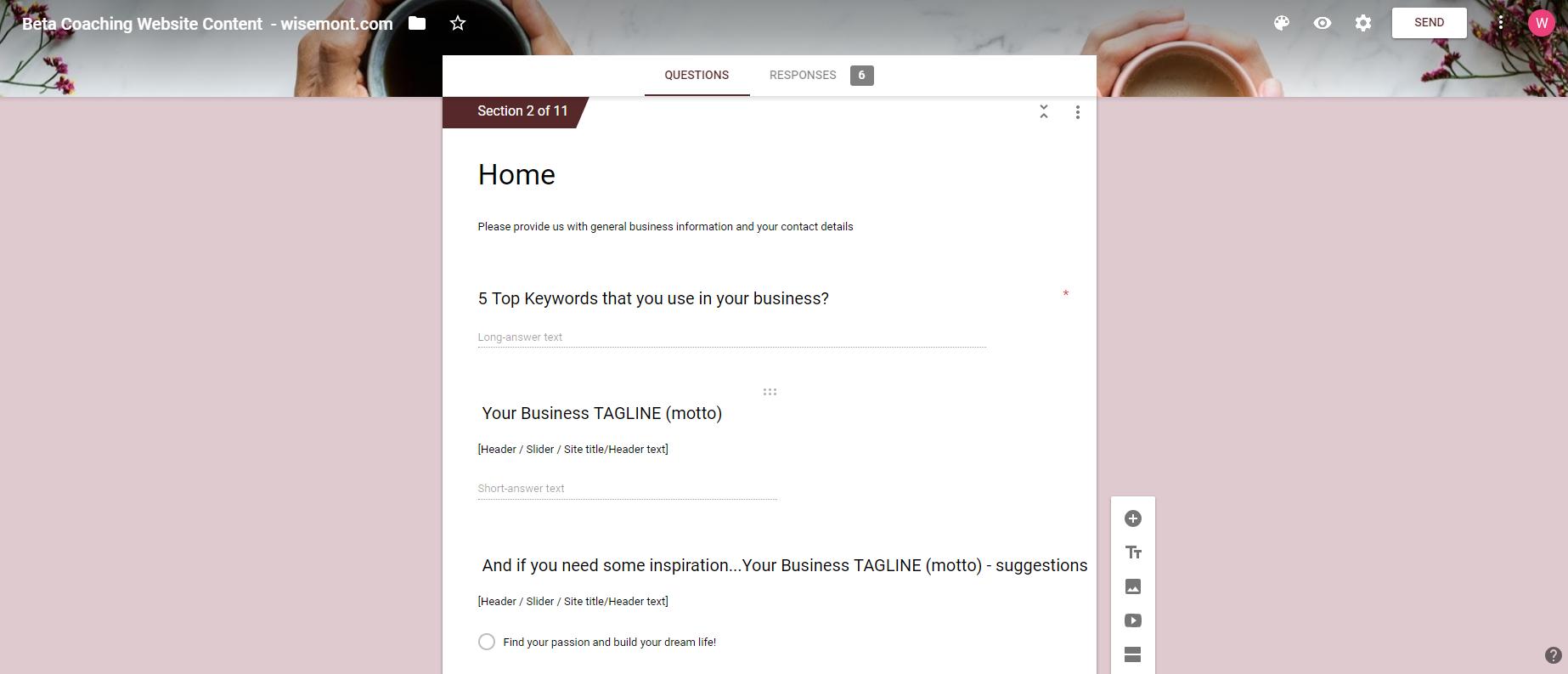 homepage generator